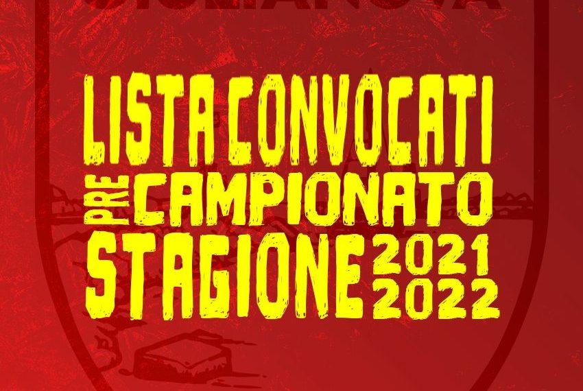 """Al via la nuova stagione 2021/2022 – Inizio di preparazione fissato il 4 Agosto alle ore 15,00 al """"Castrum"""": la lista dei convocati ed il programma completo"""